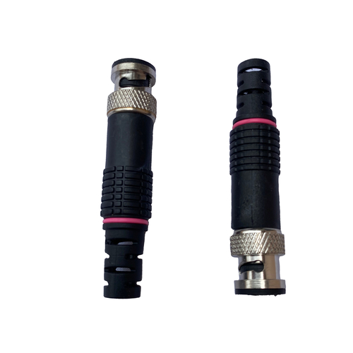 BNC Connector Brass P Pink