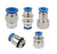 Push in Fittings Brass Chrome