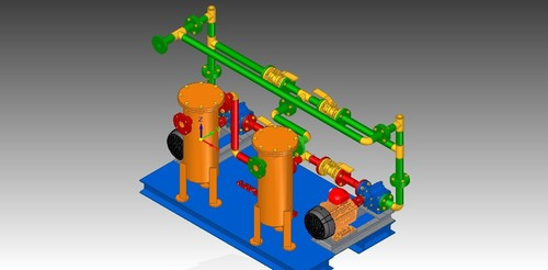 Skid Mounted Duplex Pumping System