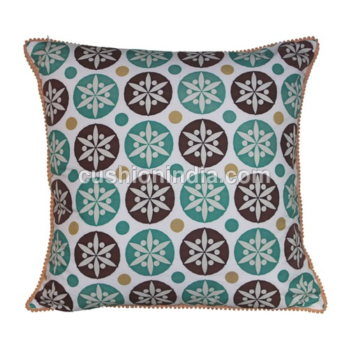 Moroccan Art  Theme Printed  Cotton  Cushion Cover