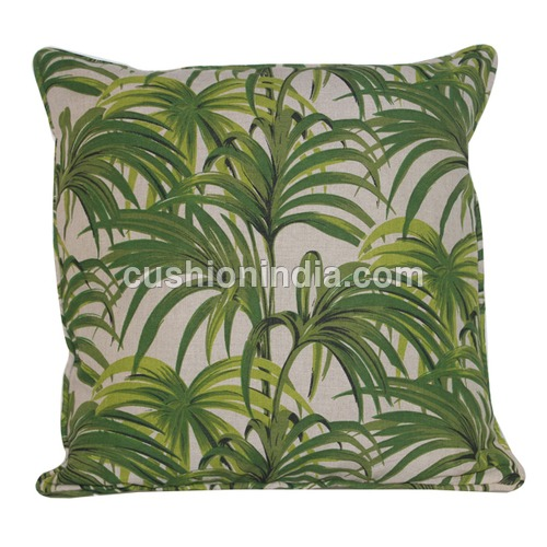 Palm Leaf  Art Image Printed  Cotton Cushion Cover