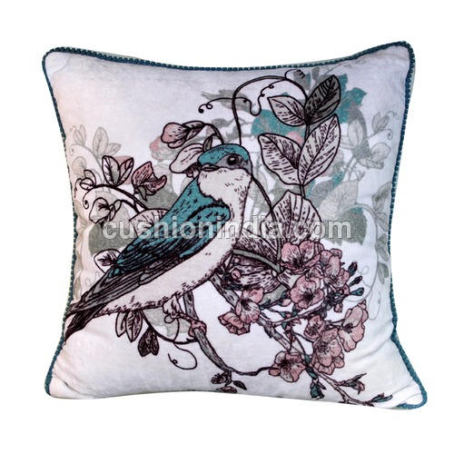 BIRD  Art  Image  Printed  Cotton Cushion Cover
