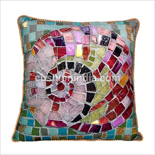 MOSAIC  Art  Theme Printed Designer Cotton Cushion