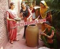 Punjabi Cultural Fiber Tandoor Ladies