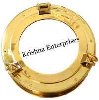 Porthole Brass Mirror