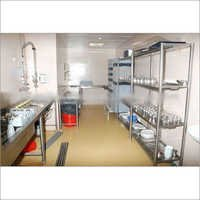 Clean Dish Landing Table with Jet Spray and Rack