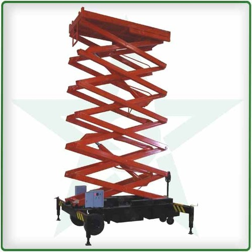 Hydraulic scissor lifts towabl (traction type)