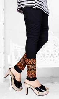 Cotton Lycra Black Leggings