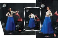 Exclusive Wear Readymade Royal Blue Gown