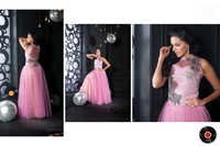 Baby Pink Color Readymade Gown