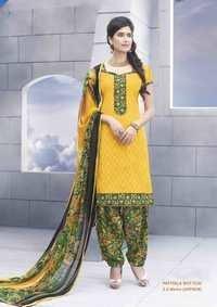 Designer Yellow Patiyala Suit