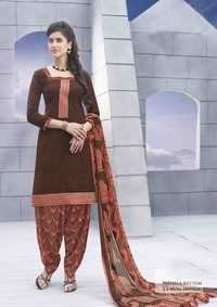 Fancy Brown Jacquard Patiyala