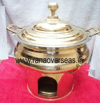 HAMMERRED BRASS CHAFING DISH