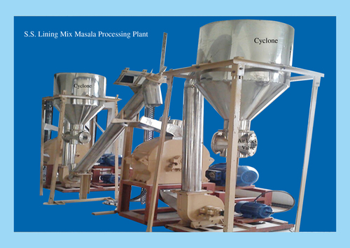 SS Lining Blended Spices Grinding Plant