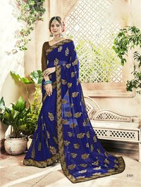 Blooming Georgette Designer Saree