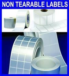 Non Tearable Labels