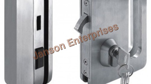 Sliding Door Lock with Strike Plate