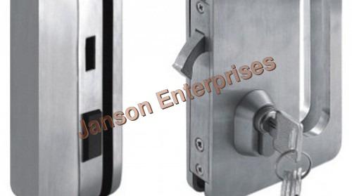 Sliding Door Lock with Strike Plate