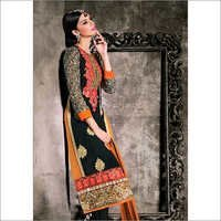 Full Embroidery Simple Wear Straight Cut Black Suit