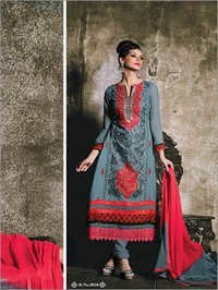 Grey Color Heavy Embroidery Suit