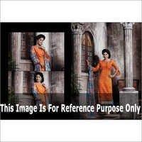 Orange Printed Suit