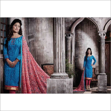 Blue Chanderi Suit