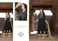 Shyna Black Jacket Fully Embroidered Anarkali Suit