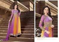 Shyna Multi Purple Embroidered Anarkali Suit