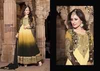 Shyna Yellow Fully Embroidered Anarkali Suit