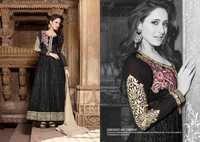 Shyna Black Fully Embroidered Anarkali Suit