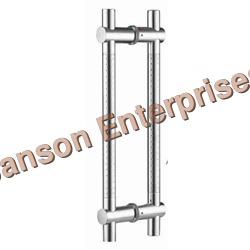 Silver Glass Door Adjustable Handle