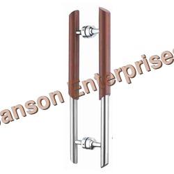Glass Door Wooden Handle