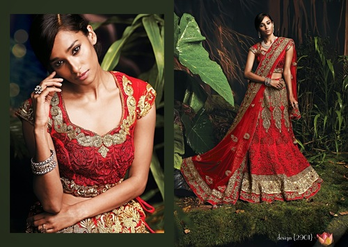 Fnacy Red Color Bridal Lehenga Choli