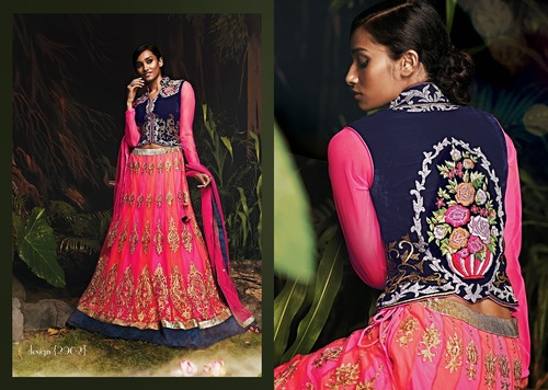 Wedding Wear Pink Color Lehengas Cholie