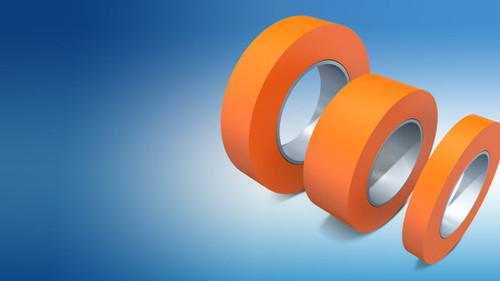 Orange Tefl0n Self Adhesive Tape