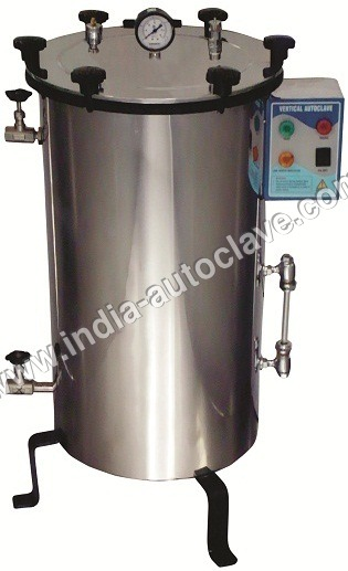 Wing Nut Locking Vertical Autoclave