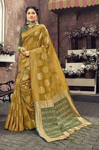 Yadunandan Kamalkupa Linen Silk Sarees
