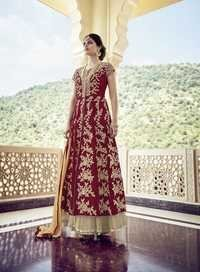 Red Georgette Lovely Anarkali Suit