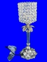 Cone Shapped Crystal Table Lamp