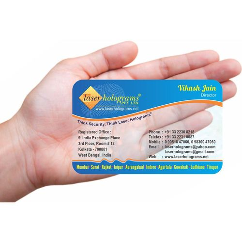 Transparent V Card