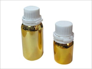50 Ml AND 100 ML Gold anodized Aluminum Containers