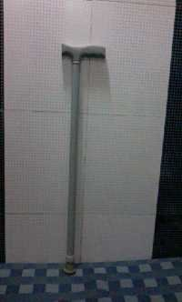 Grey Powder Coated Walking Stick