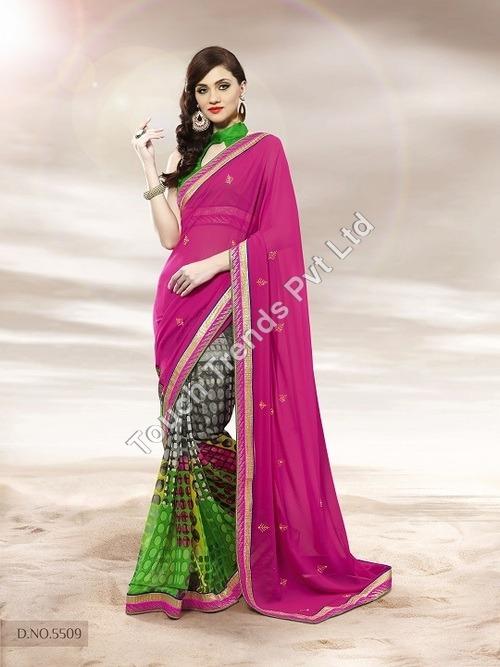 Pink Color Saree
