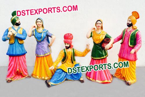Punjabi Wedding Bhangra Statues Set
