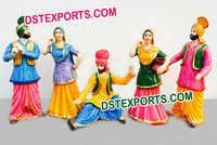 Punjabi Wedding Bhangra Statues Set