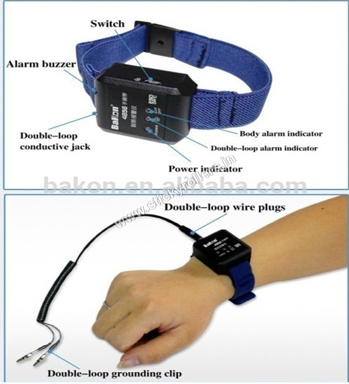 ESD Wrist Strap with Cord Ground Alarm