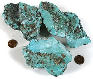 Blue Copper Turquoise Rough