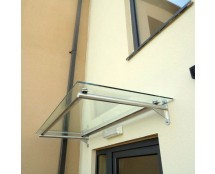 Glass Door Canopy with Tubular Stainless Steel