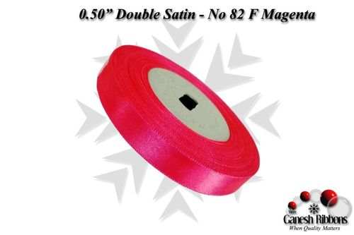 Double Satin Ribbons - F Magenta