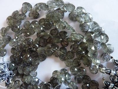 Black Routile Tear Drops Beads